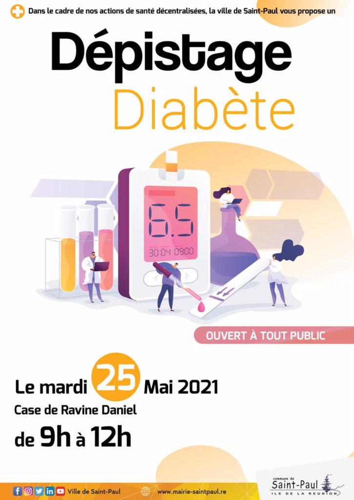 Dépistage Diabète: Ravine Daniel