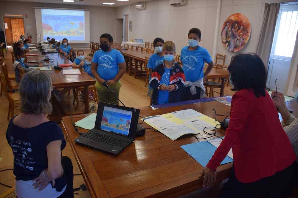 L'Aire Maritime éducative de la Saline-les-Bains gérée par les enfants de l'école de Carosse