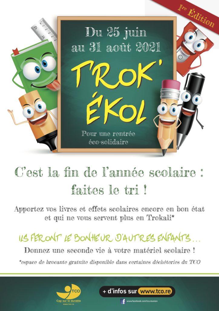Communiqué du TCO: Le Trok'Ekol, pour une rentrée scolaire éco-solidaire!