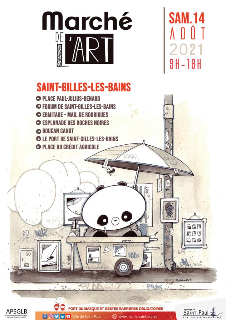 Un Marché de l'Art à Saint-Gilles-les-Bains