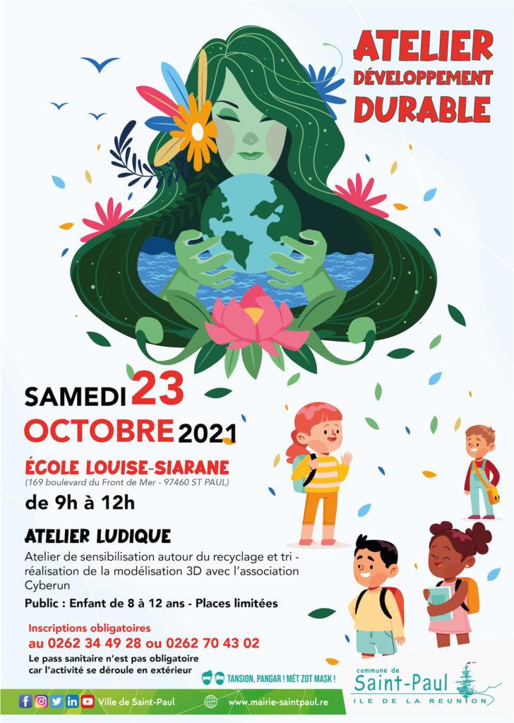 Atelier développement durable le 23 octobre
